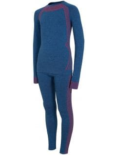 Seamless underwear (top + bottom) for older children (boys) JBIMB401 - cobalt blue