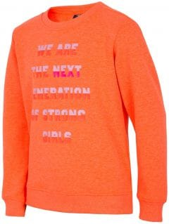 Sweatshirt for older children (girls) JBLD204 - neon orange