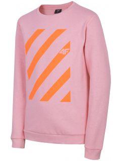 Sweatshirt for older children (girls) JBLD206 - light pink
