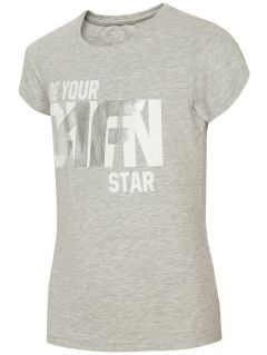 T-shirt for older children (girls) JTSD210A - light grey melange