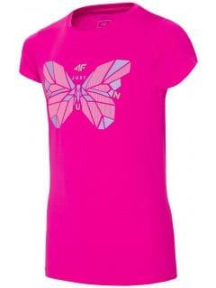 Active T-shirt for older children (girls) JTSD401A - dark pink