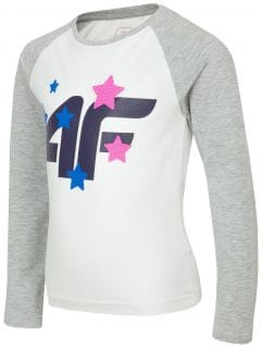 Long sleeve T-shirt for younger children (girls) JTSDL102 - white