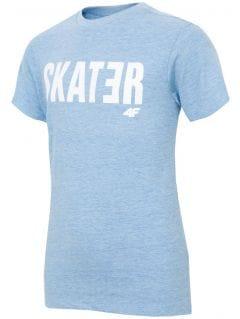 T-shirt for older boys JTSM200 - blue melange