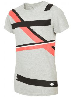 T-shirt for older children (boys) JTSM207 - grey melange