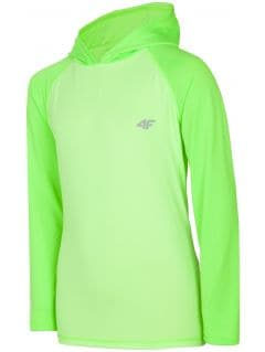 Active long sleeve T-shirt for older children (boys) JTSML401 - light green neon