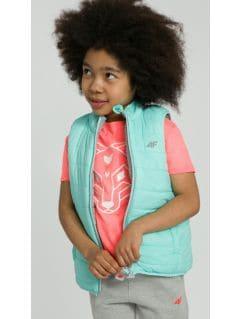 Down vest for small girls JKUDB101 - mint