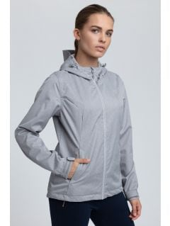 Women's urban jacket KUD004 - light gray