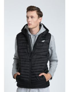 Men's down vest KUM001 - black