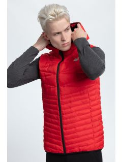 Men's down vest KUM001 - red