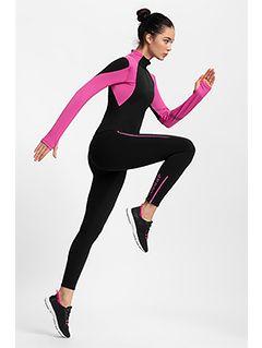 Women's active leggings 4FPro Skirunning SPDF400 - black