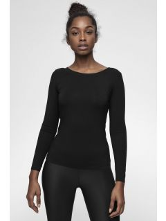 Women's base layer long sleeve shirt 4FPro TSDL400 - black