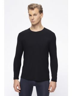 Men's base layer long sleeve shirt 4FPro TSML400 - black