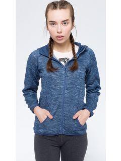 Women's fleece hoodie PLD003 - denim melange