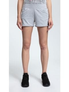 Women's knit shorts SKDD001 - light gray