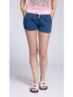 Women's knit shorts SKDD003 - denim melange