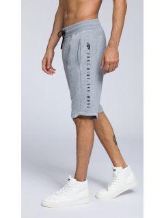 Men's knit shorts SKMD255 - light gray