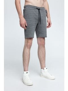 Men's knit shorts SKMD301 - dark grey melange