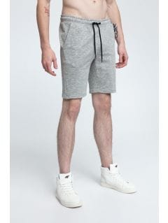 Men's knit shorts SKMD301 - medium grey melange