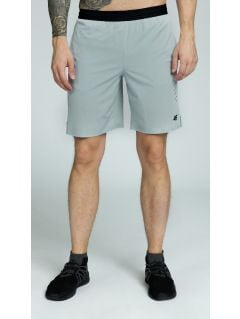 Men's active shorts SKMF255 - light gray