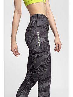 Women's active leggings SPDF200 - multicolor