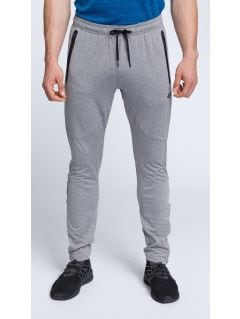 Men's active pants SPMTR200 - middle gray melange