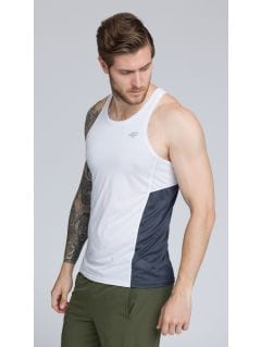 Men's active tank top TSMF262 - white