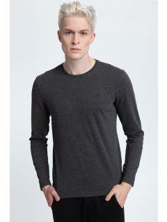 Men's longsleeve TSML001 - dark gray melange