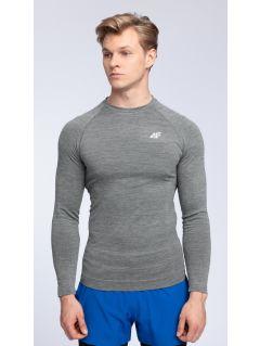 Men's long sleeve T-shirt TSMLF002 - middle gray melange