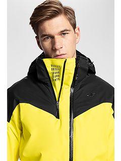 Men's ski jacket KUMN152a - yellow