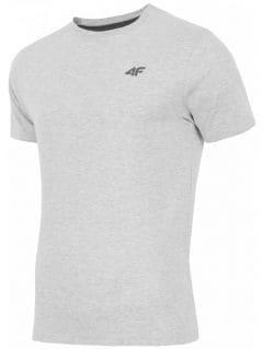 Men's T-shirt TSM002 - light grey melange
