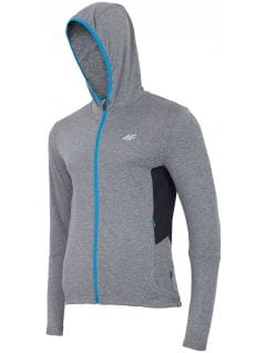 Men's active hoodie BLMF001 - dark grey melange
