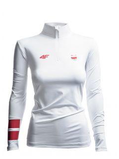 Women's long sleeve T-shirt Poland PyeongChang 2018 TSDLF900 - white