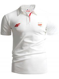 Men's polo shirt Poland PyeongChang TSM211 - white