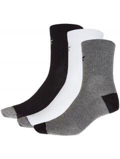 Men's socks (3 pack) SOM302 - grey+black+white