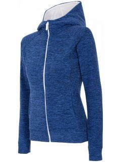 Women's fleece hoodie PLD301 - dark blue melange
