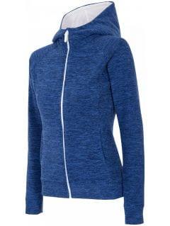 Women's fleece hoodie PLD301 - dark blue melange