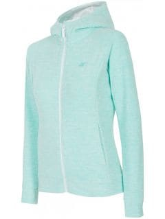 Women's fleece hoodie - mint melange
