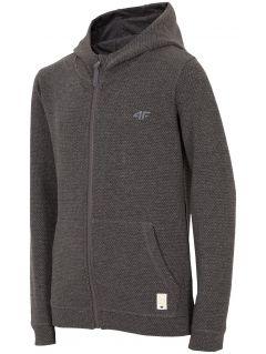 Hoodie for small girls JBLD100 - dark gray melange