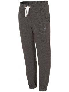 Sweatpants for small girls JSPDD100 - gray melange