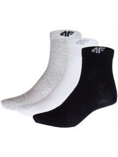 Men's socks SOM301 (3 pairs) - white+black+gray