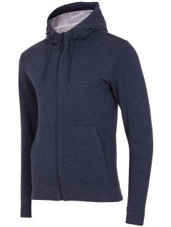Men's hoodie BLM003 - dark  navy melange