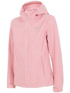 Women's softshell jacket SFD001 - light pink melange