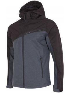 Men's urban jacket KUM005 - dark gray melange