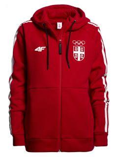 Women's hoodie Serbia Pyeongchang 2018 BLD700 - red cherry