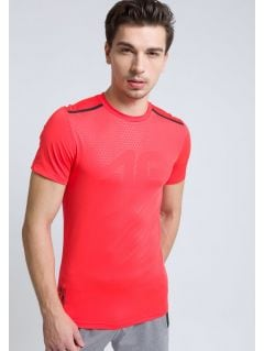 Men's active T-shirt TSMF208 - neon red