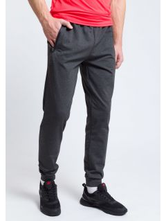 Men's active pants SPMTR205 - dark gray melange
