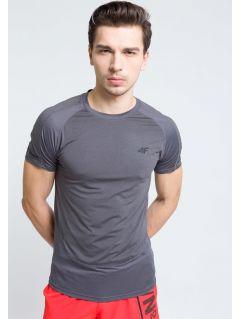 Men's active T-shirt TSMF215 - dark gray melange