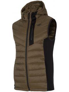 Men's down vest KUMP202 - khaki