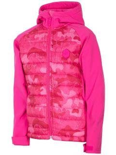 Softshell jacket for small girls jsfd301 - pink