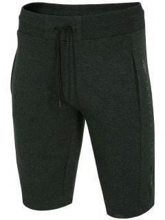 Men's knit shorts SKMD255 - dark gray melange